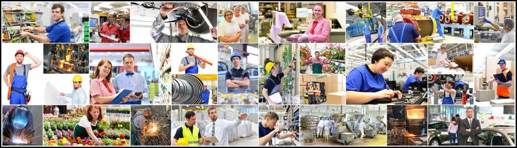 Berufe in der Industrie, Handwerk, Handel und Dienstleistung (Industriearbeiter, Mechaniker, gärtner, Verkäufer, Händler, Ingenieure, HiTech Fertigung, Stahlwerk, Logistikbranche)